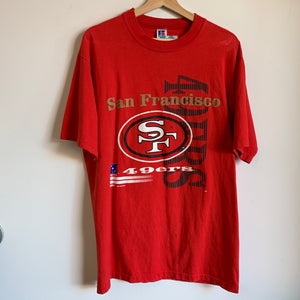 Russell Athletic San Francisco 49ers Red Tee Shirt