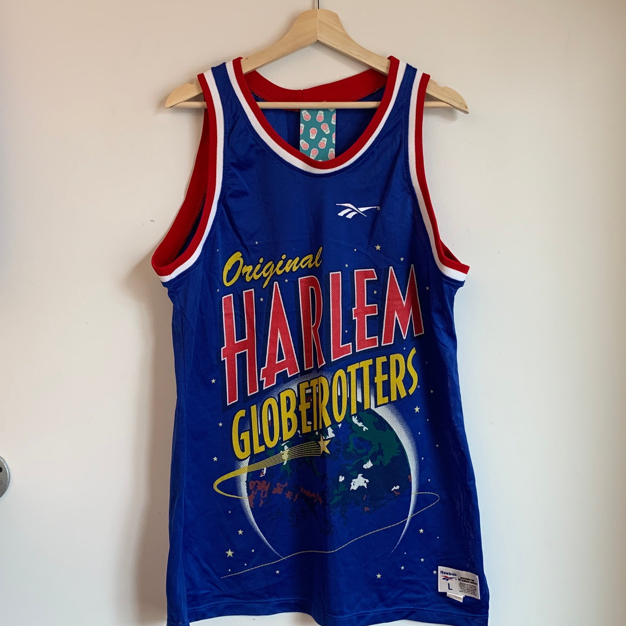Reebok Billy Ray Hobley Harlem Globetrotters Basketball Jersey
