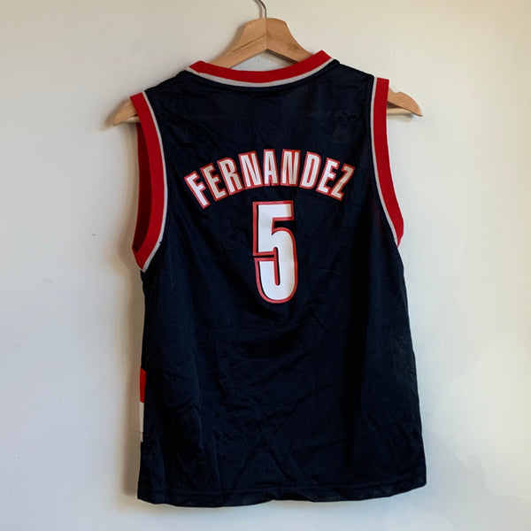 Youth Adidas Rudy Fernández Portland Trail Blazers Black/Red/White Basketball Jersey