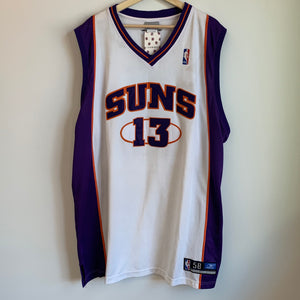 Reebok Steve Nash Phoenix Suns Authentic White Basketball Jersey