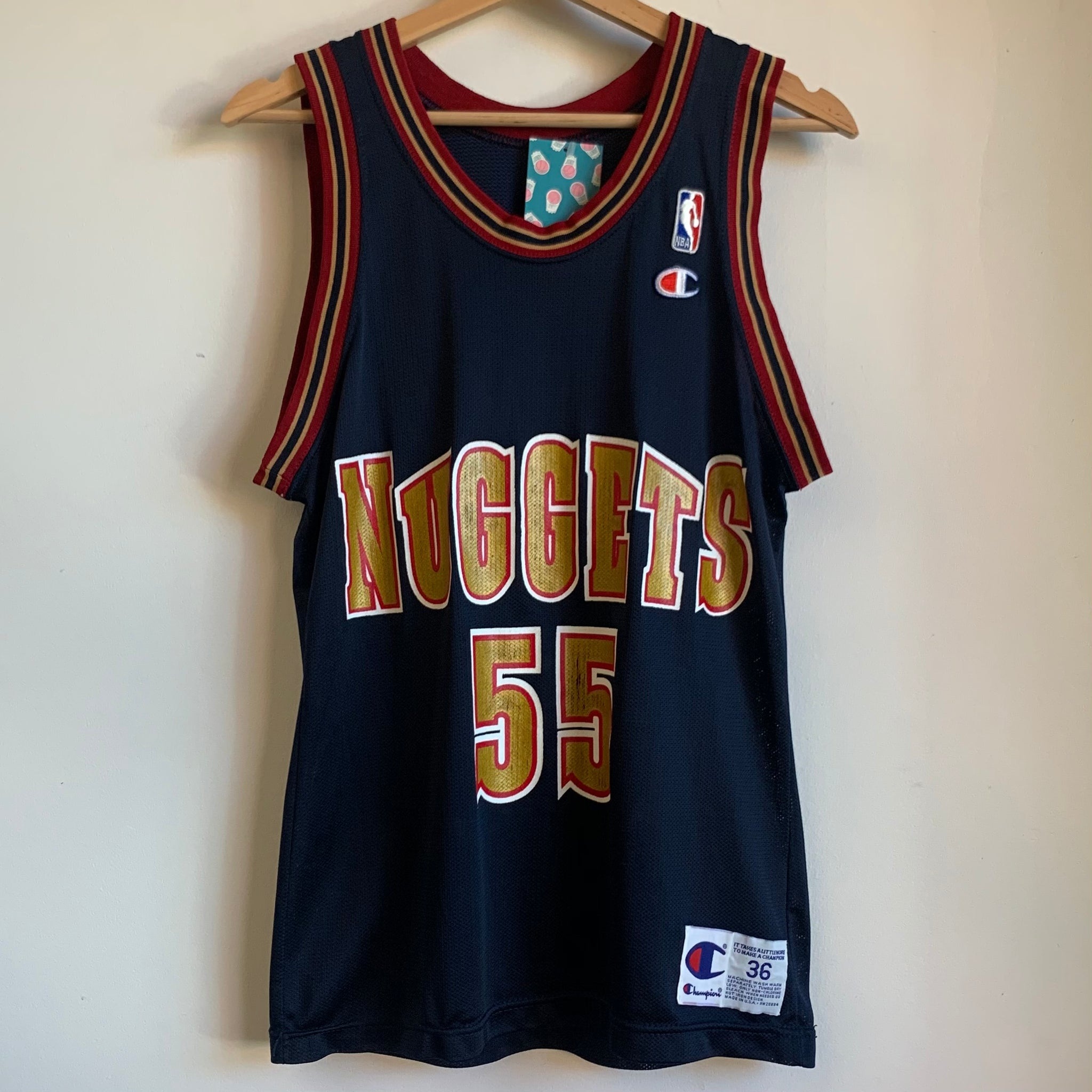 Champion Dikembe Mutombo Denver Nuggets Basketball Jersey