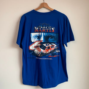 Mark Martin Blue NASCAR Pocket Tee Shirt
