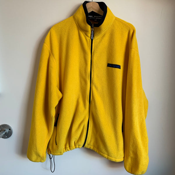 Ralph Lauren Polo Sport Yellow Fleece Jacket