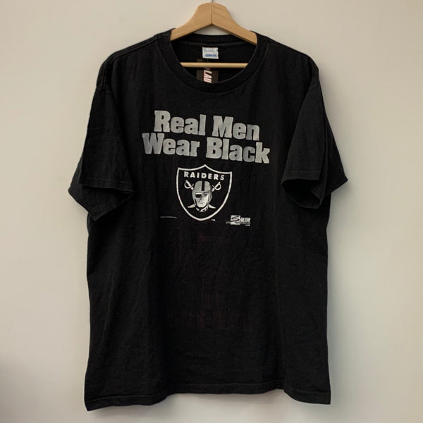 "Salem Sportswear Los Angeles Raiders ""Real Men Wear Black"" Tee Shirt"