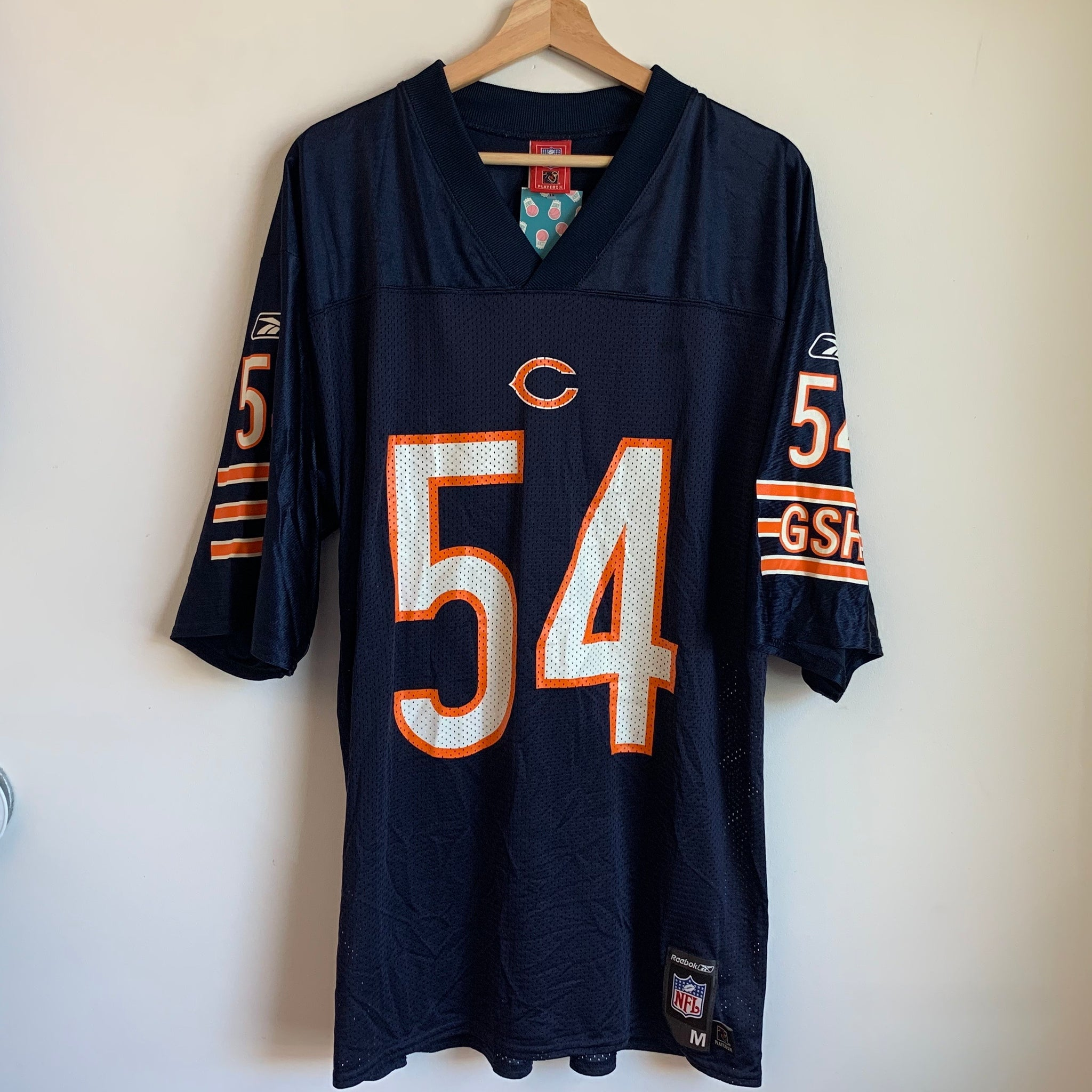 Reebok Brian Urlacher Chicago Bears Football Jersey