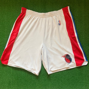 Nike Detroit Pistons White Red and Blue Shorts