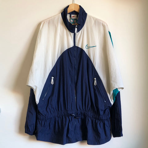 Nike Navy/White/Teal Women's Windbreaker Jacket