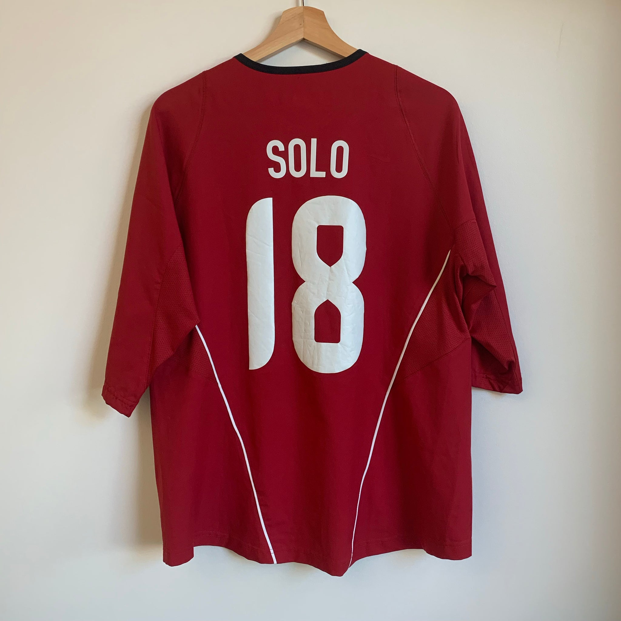 Nike Hope Solo USWNT USA Red Soccer Jersey
