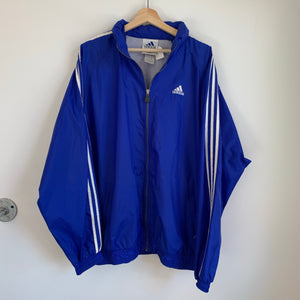 Adidas Blue Windbreaker Track Jacket