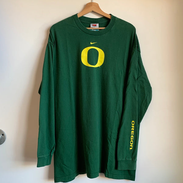 Nike Oregon Ducks Green Long Sleeve Tee Shirt