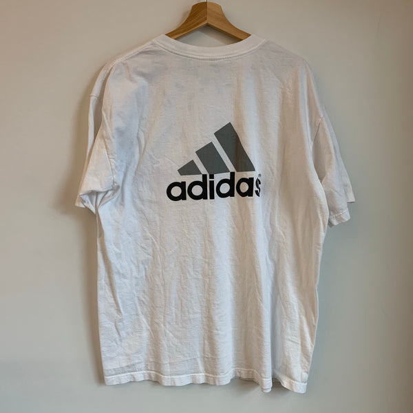 Adidas Big Logo White Pocket Tee Shirt