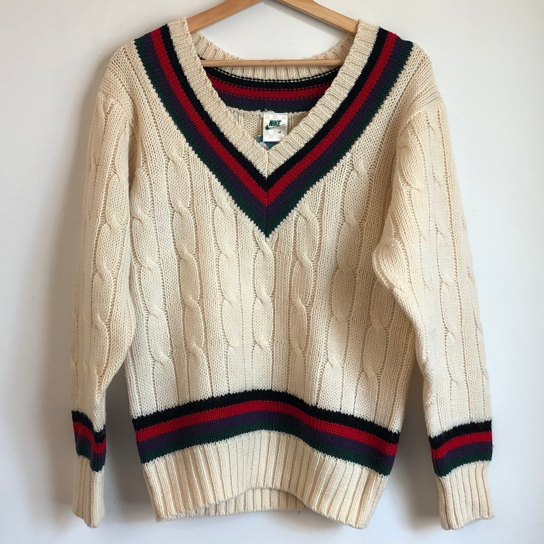 1980s Nike John McEnroe Knit V-Neck Tennis Sweater
