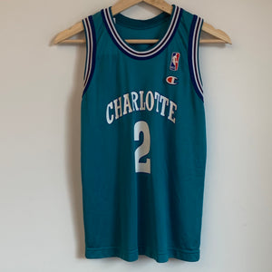 Champion Larry Johnson Charlotte Hornets Teal Youth Basketball Jersey