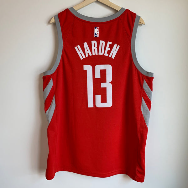 Nike James Harden Houston Rockets Red Basketball Jersey