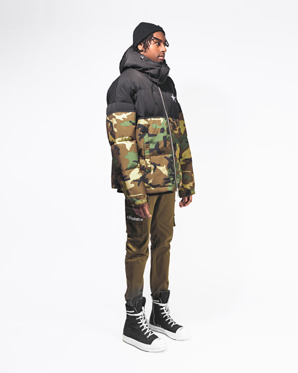 GNF CAMOUFLAGE down coat