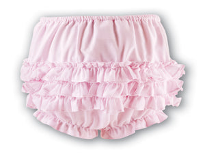 Sarah Louise 003760P Pink Frilly Knickers AW19