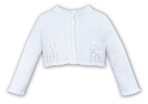 Sarah Louise 006701 White Cardigan AW19
