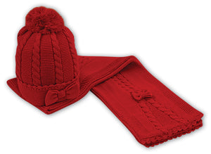 NEW Sarah Louise 006060 Red Hat And Scarf Set
