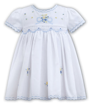 Sarah Louise White Blue Dress