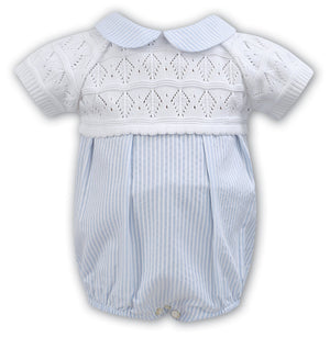 Sarah Louise White Blue Bubble Romper