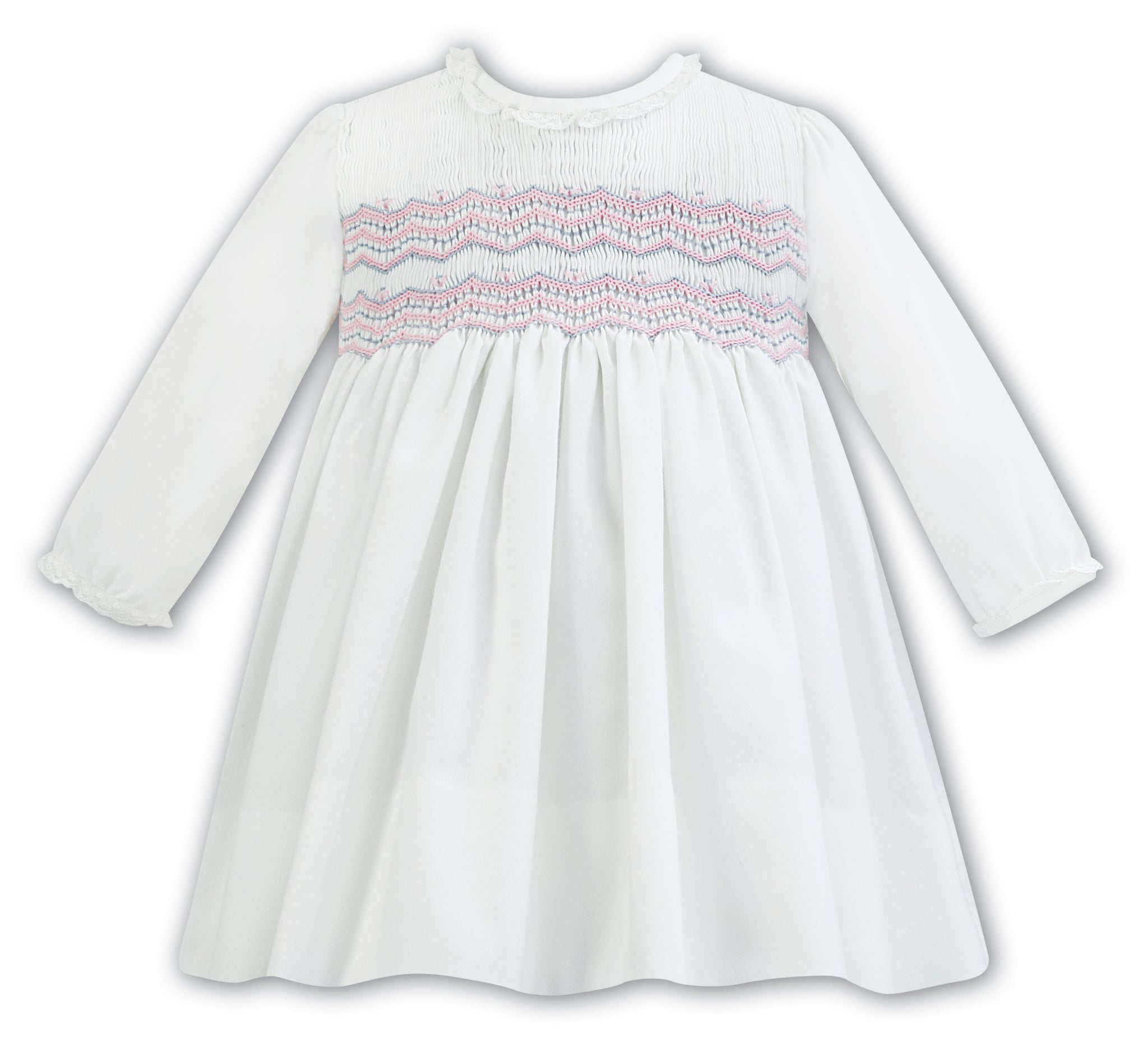 a60413bf7 New Sarah Louise 011297 Ivory/Pink Detail Dress