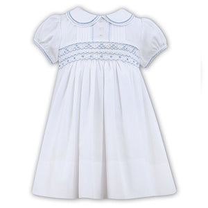 Sarah Louise 011446-1 Blue and White Dress SS20
