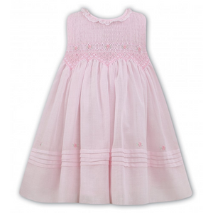 Sarah Louise 011490-1 Pink Smocked Dress SS20