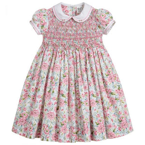 Sarah Louise 011593-1 Pink Floral Dress SS20