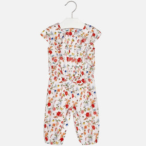 Mayoral Coral Flowers Jumpsuit