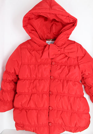 Tutto Piccolo Red Parka Coat