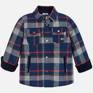 Mayoral 4136 019 Checked Lined Overshirt