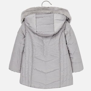 Mayoral 4437 077 Silver Padded Coat