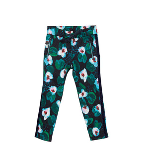 Catimini large flower pattern trousers