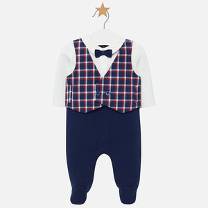 Mayoral 2611 Babygrow with Checked Waistcoat AW19