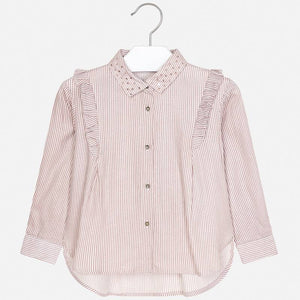 Mayoral 4107 Ruffled Striped Blouse AW19