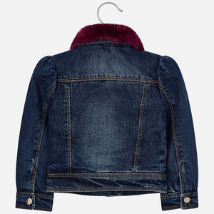 Mayoral 4410 Denim Jacket with Faux Fur Collar AW19