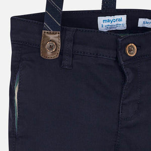 Mayoral 4522 Navy Slim Fit Pique Pants AW19