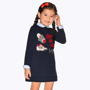 Mayoral 4944 010 Embroidered Trainers Dress AW19