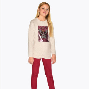 Mayoral 7708 T-Shirt and Suede Leggings Set AW19