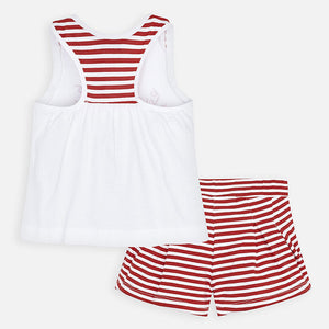 Mayoral 3288 070 T-shirt and Striped Shorts Set SS20
