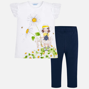 Mayoral 3720 065 T-shirt and Leggings Set SS20
