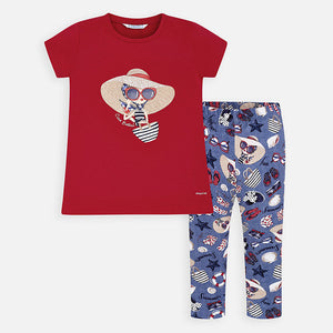 Mayoral 3725 041 T-shirt and Patterned Leggings SS20