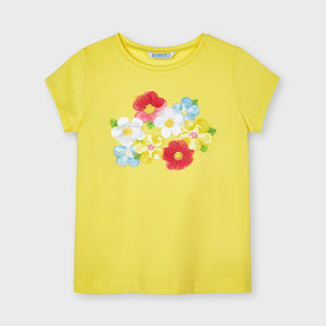Mayoral 3019 029 Yellow Short Sleeve T-shirt SS21