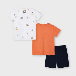 Mayoral 3641 026 Apricot Knit Set with 2 T-shirts SS21