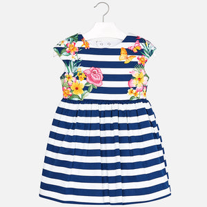 NEW Mayoral 3942 037 Nautical Stripes Dress