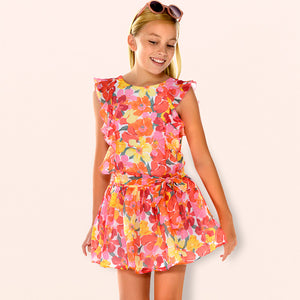 NEW Mayoral 6925 025 Coral Flower Dress