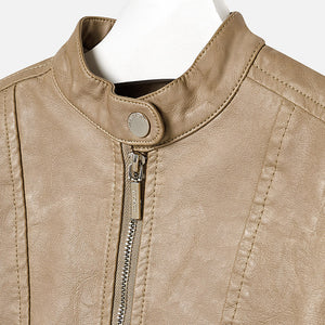Mayoral 4490 071 Camel Leather Jacket
