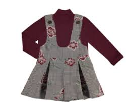 Mayoral 4002 070 Flower and Dog tooth Dungarees and Top AW19