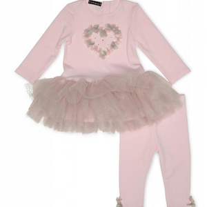Kate Mack 500UDA/B Pink Tunic And Legging Set