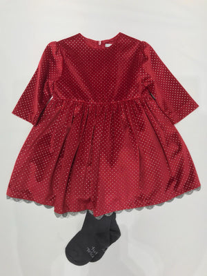 Tutto Piccolo Garnet Dress with Tights